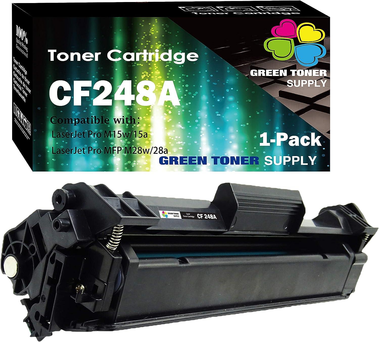 (1-Pack) Compatible 48A CF248A Toner Cartridge 248A Used for HP Laserjet Pro HP Laserjet Pro M15w M15a M16a M16w MFP M29w MFP M29a MFP M28w MFP M28a Printer, Sold by GTS