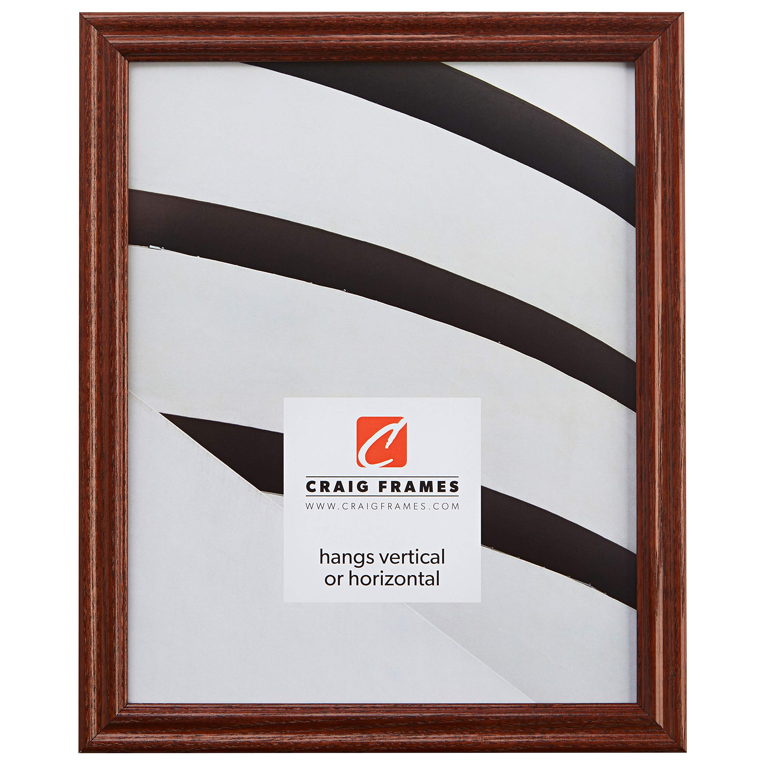 Craig Frames 200ASH 22 by 34-Inch Picture Frame, Wood Grain Finish, 0.75'' Wide, Walnut Brown by Craig Frames