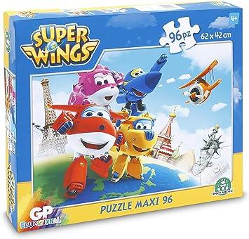 Super Wings - Puzzle Maxi, 96 Piezas (Giochi Preziossi UPW36000): Amazon.es: Juguetes y juegos