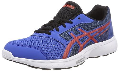 Asics Stormer 2 GS, Zapatillas de Running para Niños, (Victoria Ch E R R Y Tomatodark Blue), 33.5 EU: Amazon.es: Zapatos y complementos