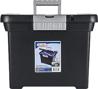 product image for STERILITE Portable File Box, Black (ST1871-9004)