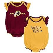 NFL by Outerstuff NFL Washington Redskins Newborn & Infant Homecoming Bodysuit Combo Pack Burgundy, 0-3 Months