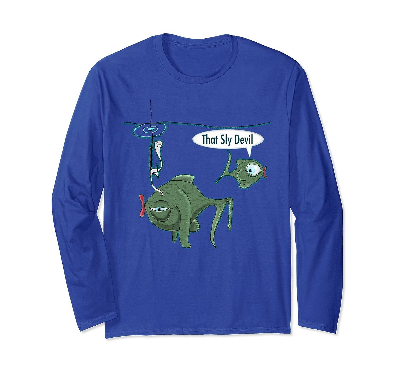 'That Sly Devil' Lucky Fishing Long Sleeve T-Shirt-ln