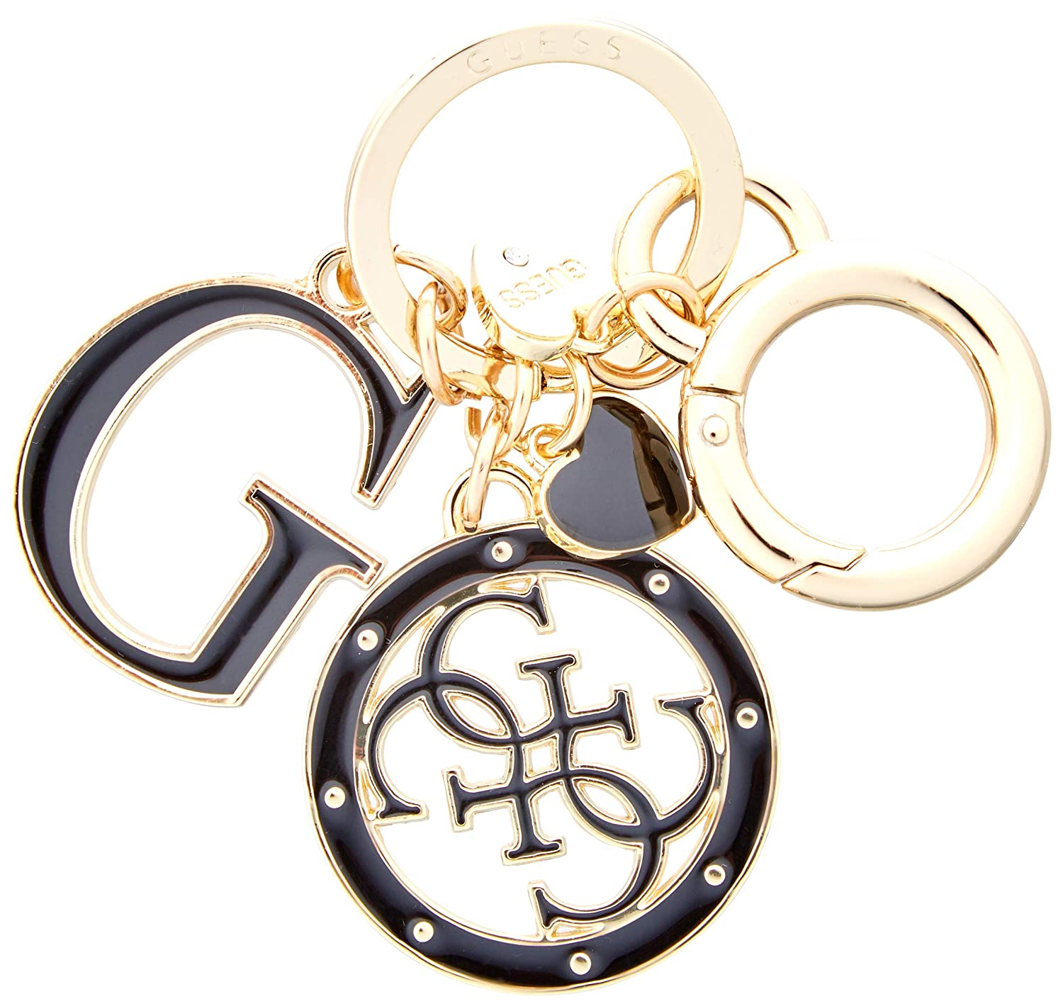 White (Black) Guess Women's Not Coordinated Keychain Portable Handbag Hanger