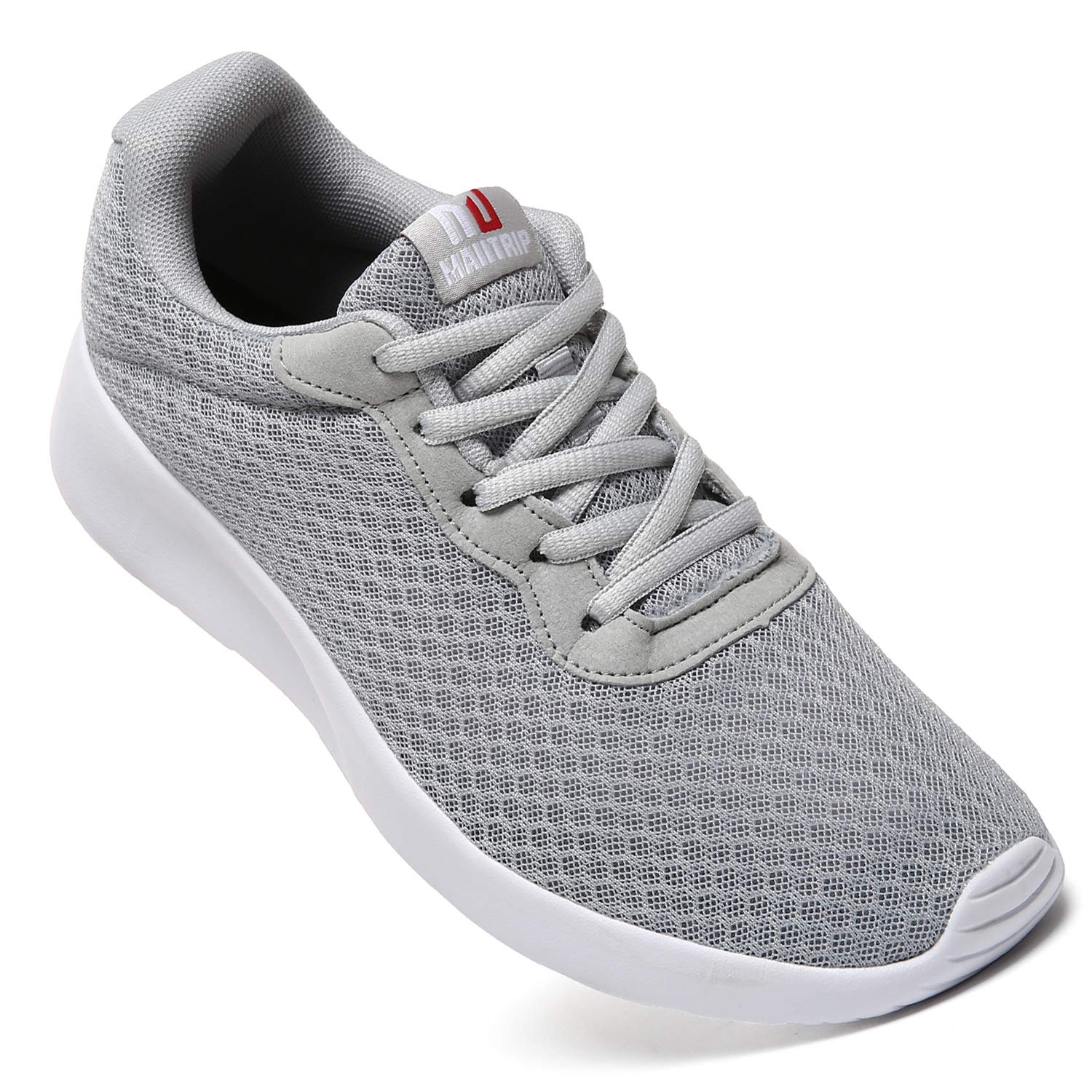 MAITRIP Mens Gym Shoes,Athletic Running Shoes,Lightweight Breathable Mesh Casual Tennis Sports Workout Walking Sneakers,Grey,Size 7