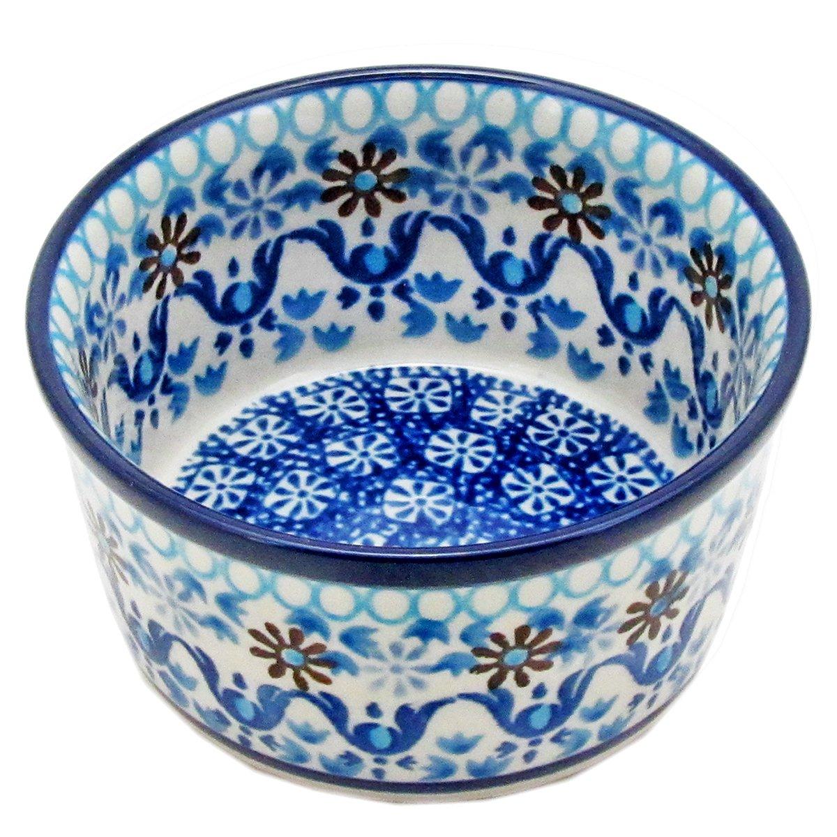 Polish Pottery 3.5\'\' Casual Handmade Ramekin 409- Ice Capades