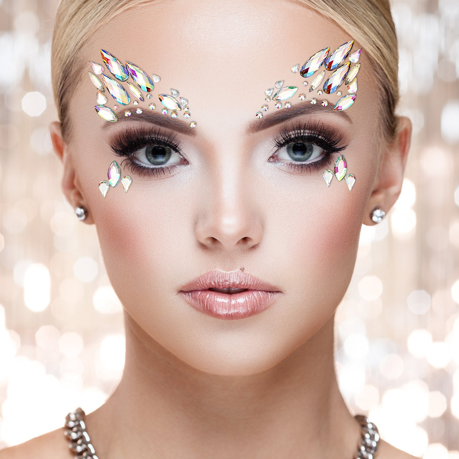 TOODOO 8 Sets Face Gems Rhinestone Colorful Sticker Tattoo Jewelry Stick on Face Festival Jewels for Forehead Body Decorations (Style 1) by TOODOO (Image #5)
