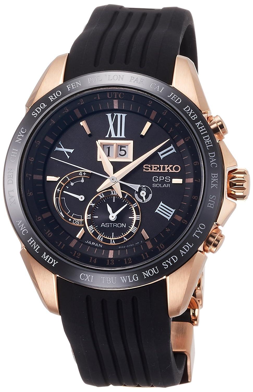 [アストロン]ASTRON 腕時計 ASTRON GPSソーラー ビッグデイト ブラック文字盤 SBXB153 メンズ B0792WPPWD