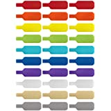Cable Labels by Wrap-It Storage, Medium, Multi-Color (30-Pack) Write On Cord Labels, Wire Labels, Cable Tags and Wire Tags fo