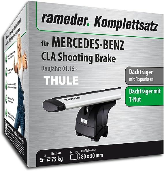 Rameder Komplettsatz Dachträger Wingbar Evo Für Mercedes Benz Cla Shooting Brake 114723 13518 2 Auto
