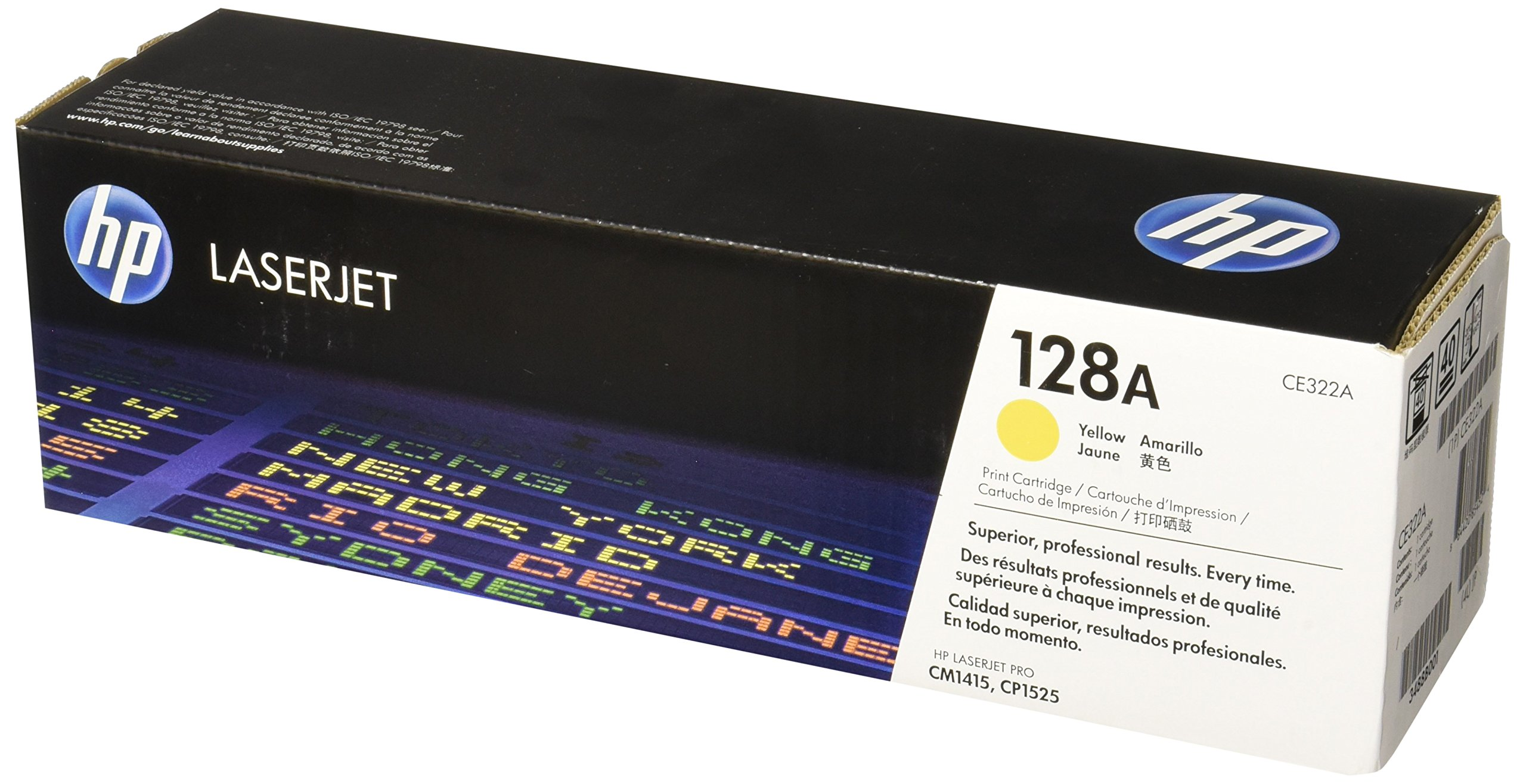 HP 128A (CE322A) Yellow Original Toner Cartridge for HP LaserJet Pro CM1415 CP1525