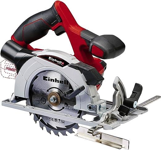 Einhell 4331200 Sierra circular (4,200 min-1, no incluye batería, Power-X-Change), 0 W, 18 V, Negro, Gris, Rojo: Amazon.es: Bricolaje y herramientas