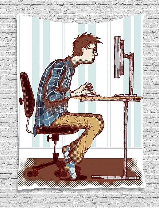 ABAKUHAUS Friki Tapiz de Pared, Programador Adicto Al Trabajo De ...
