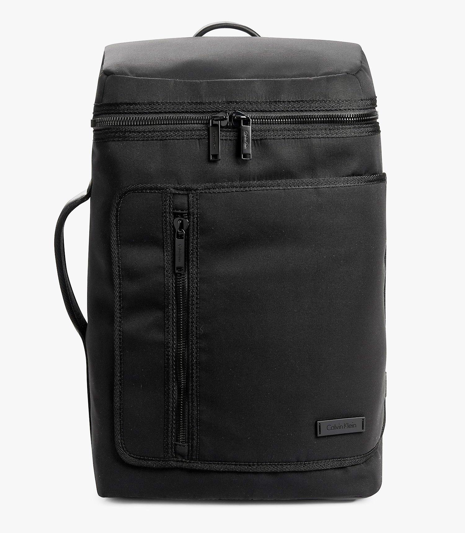 Calvin Klein Mens Adam Tech Backpack Travel Bag (Black)