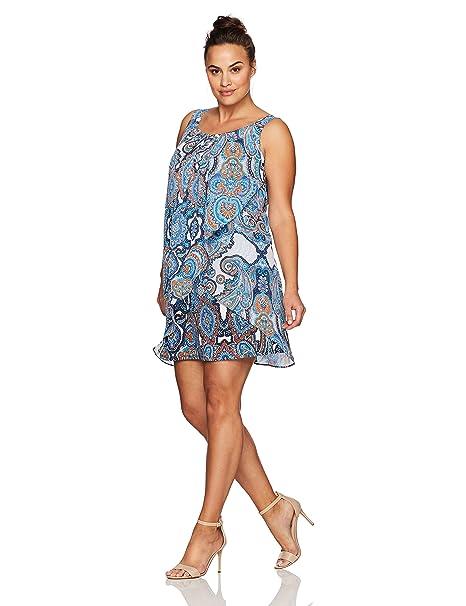 Robbie Bee Womens Plus Size Ruffle Front Chiffon Shift Dress At Amazon Womens Clothing Store