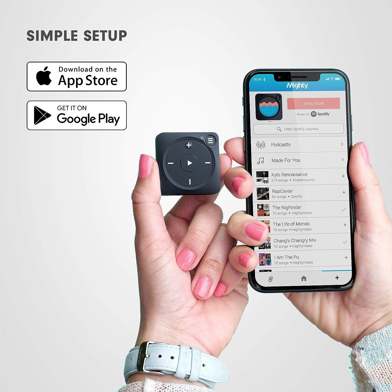 Mighty Vibe Reproductor de música Spotify y Amazon Music - Zazzy Black - Reproductor Multimedia Digital - Clip Deportivo, para Auriculares Bluetooth y ...