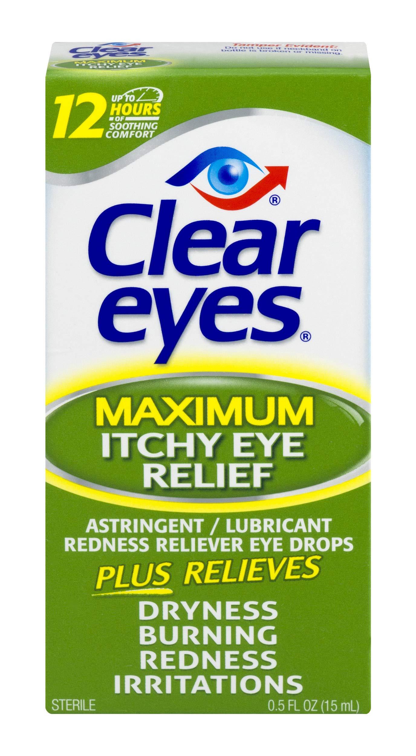 Clear Eyes   Maximum Itchy Eye Relief Eye Drops   0.5 FL OZ
