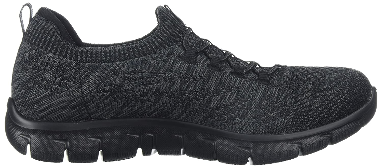 Skechers Sport Women's Empire Sharp Thinking Fashion Sneaker B071KCQ65X 7 B(M) US|Black Charcoal