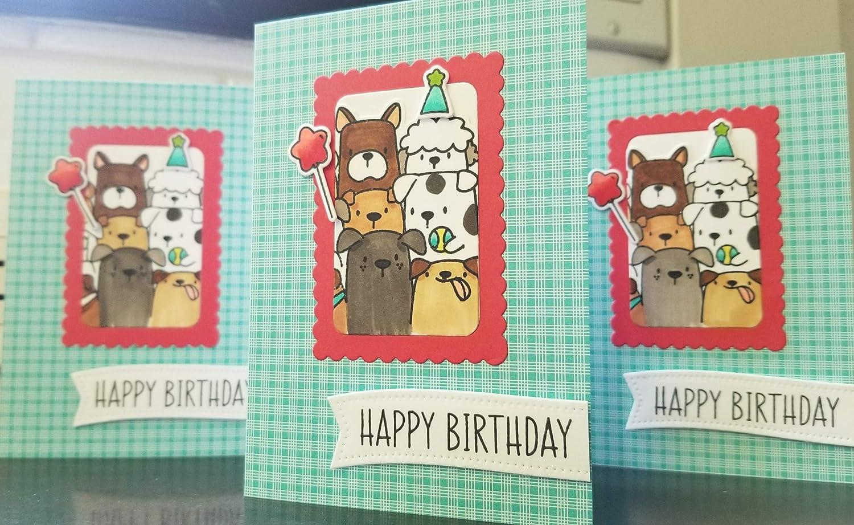 Dog Birthday Card Happy Birthday Greeting Card for Dog Lover