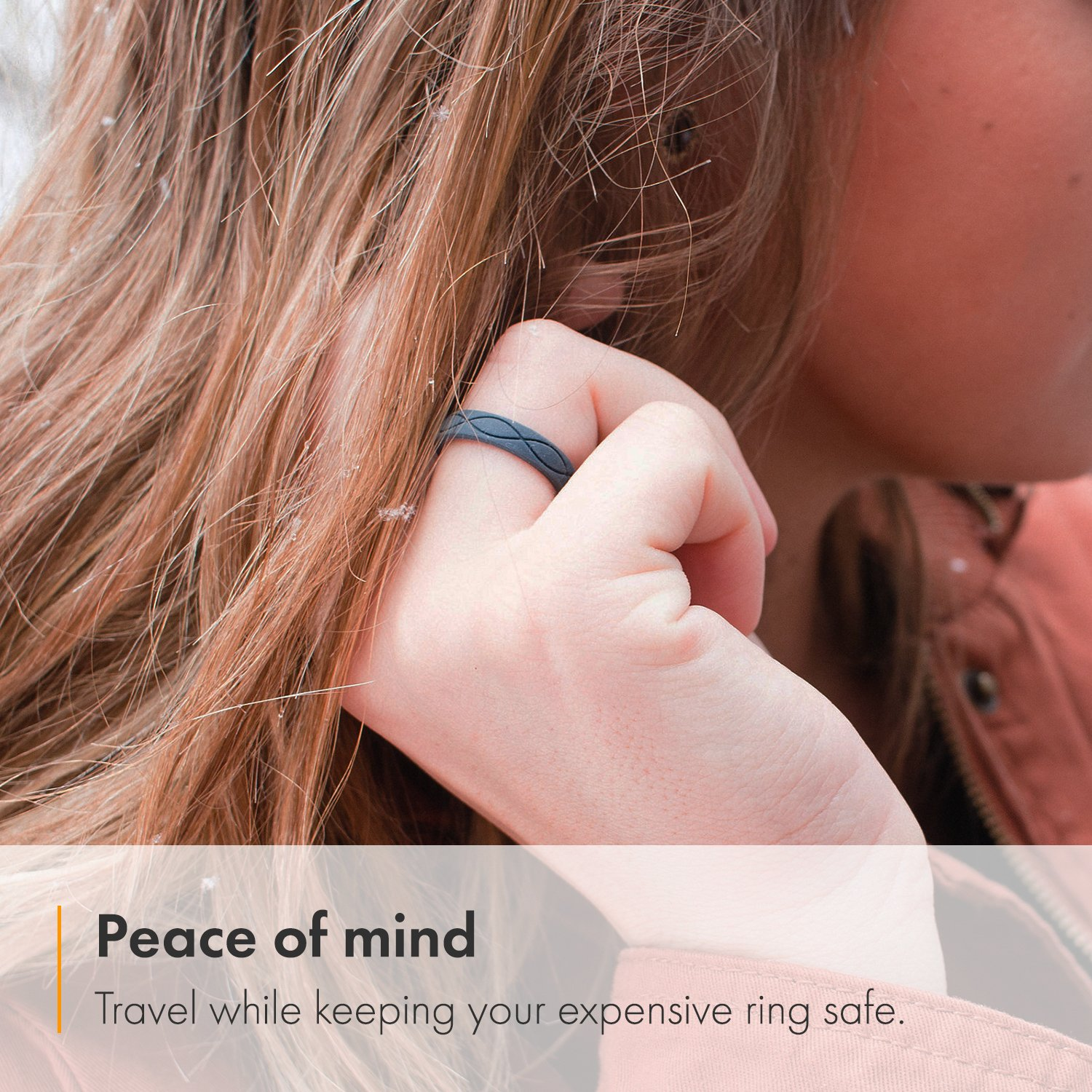 Enso Womens Infinity Silicone Ring, Slate Blue 5 by Enso Rings (Image #1)