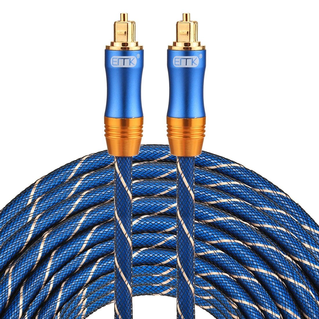 Optical Cables, EMK LSYJ-A 25m OD6.0mm Gold Plated Metal Head Toslink Male to Male Digital Optical Audio Cable