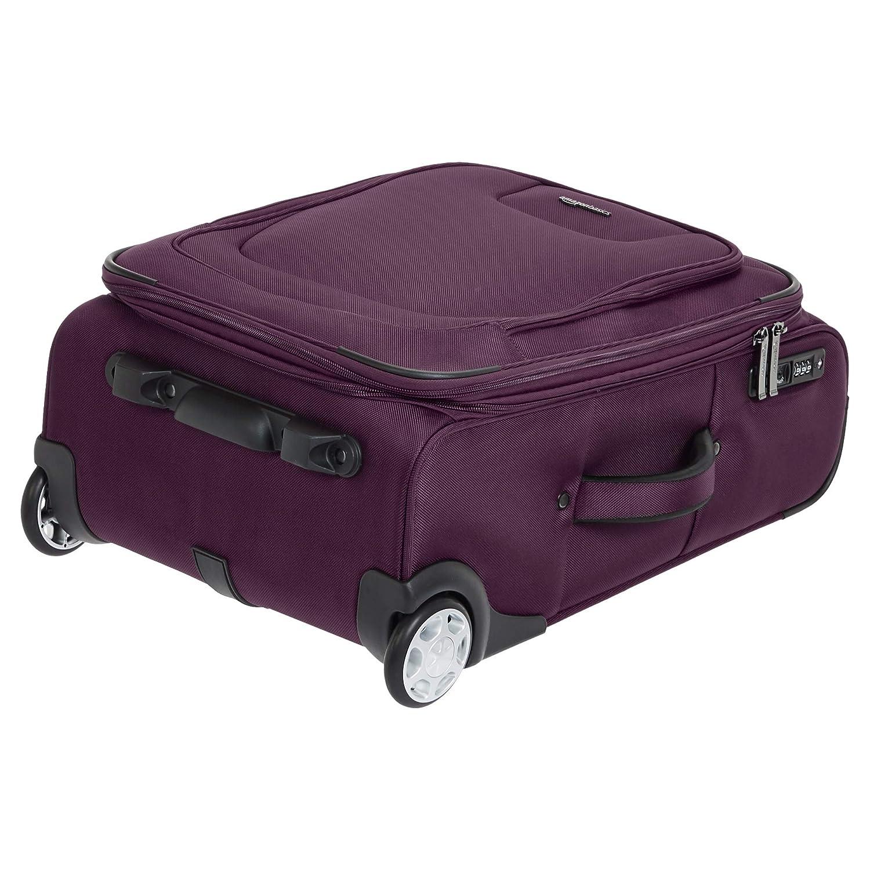 Basics Premium Upright Expandable Softside Suitcase with TSA Lock