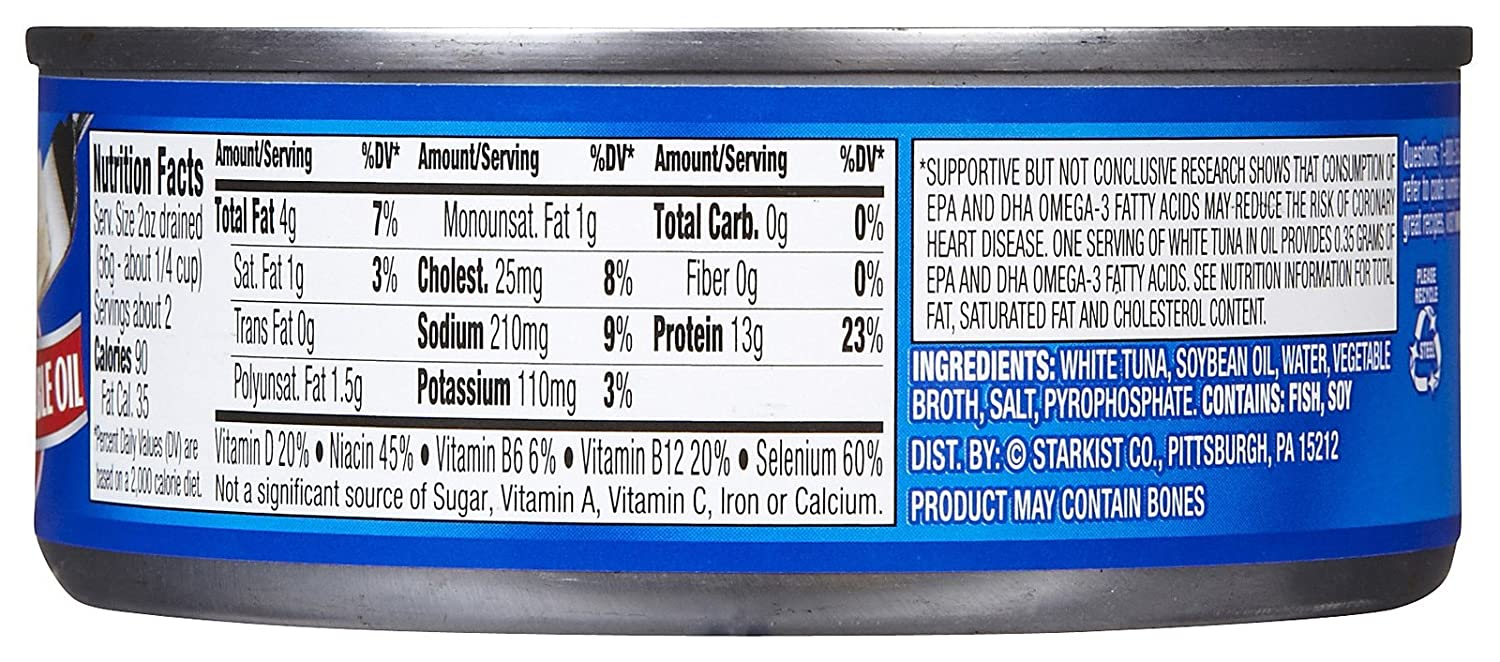Nutrition albacore tuna canned besto blog for Calories in tuna fish