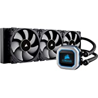 CORSAIR HYDRO Series H150i PRO RGB AIO Liquid CPU Cooler, 360mm Radiator, Triple 120mm ML Series PWM Fans, Advanced RGB Lighting and Fan Software Control, Intel 115x/2066 and AMD AM4 compatible