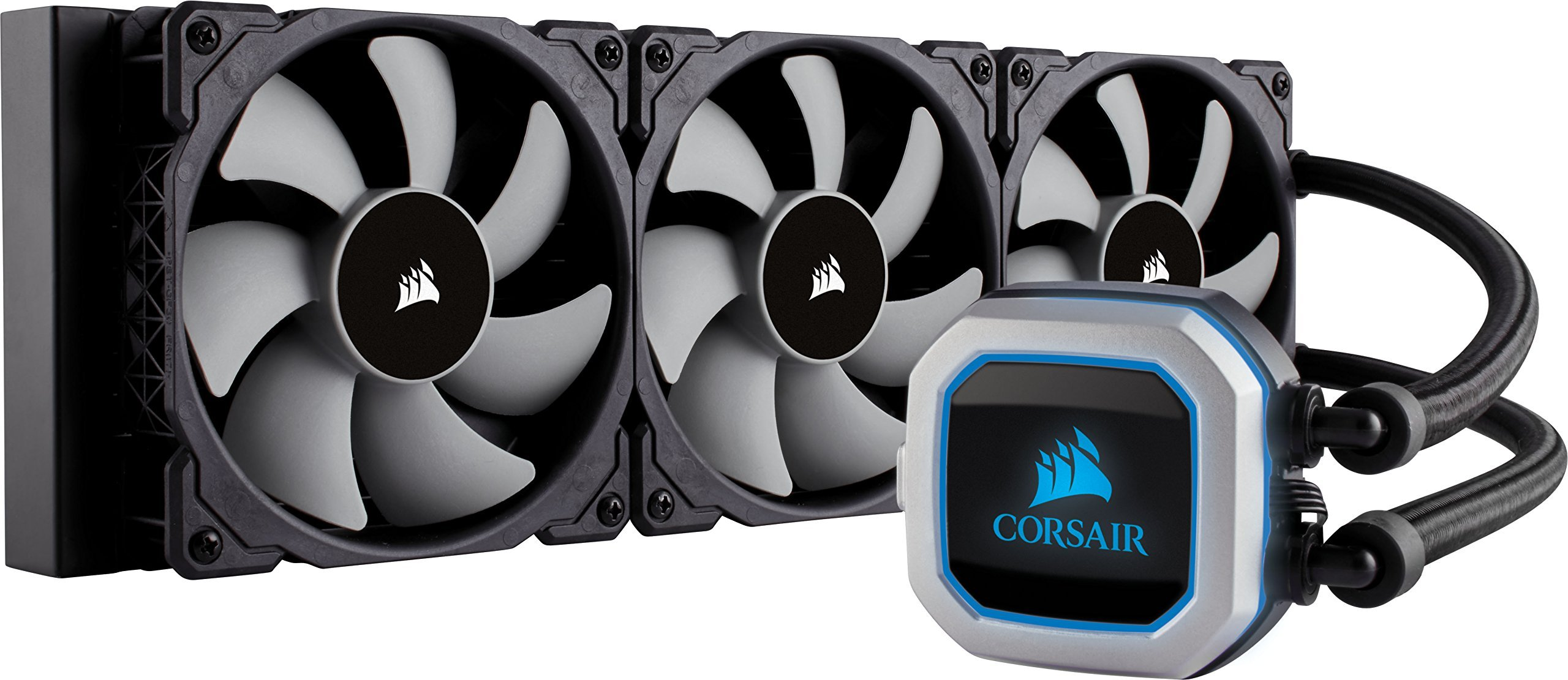 Corsair Hydro Series H150i PRO RGB 360mm Radiator Triple 120mm ML Series PWM Fans Advanced RGB Lighting Liquid CPU Cooler (CW-9060031-WW) by Corsair