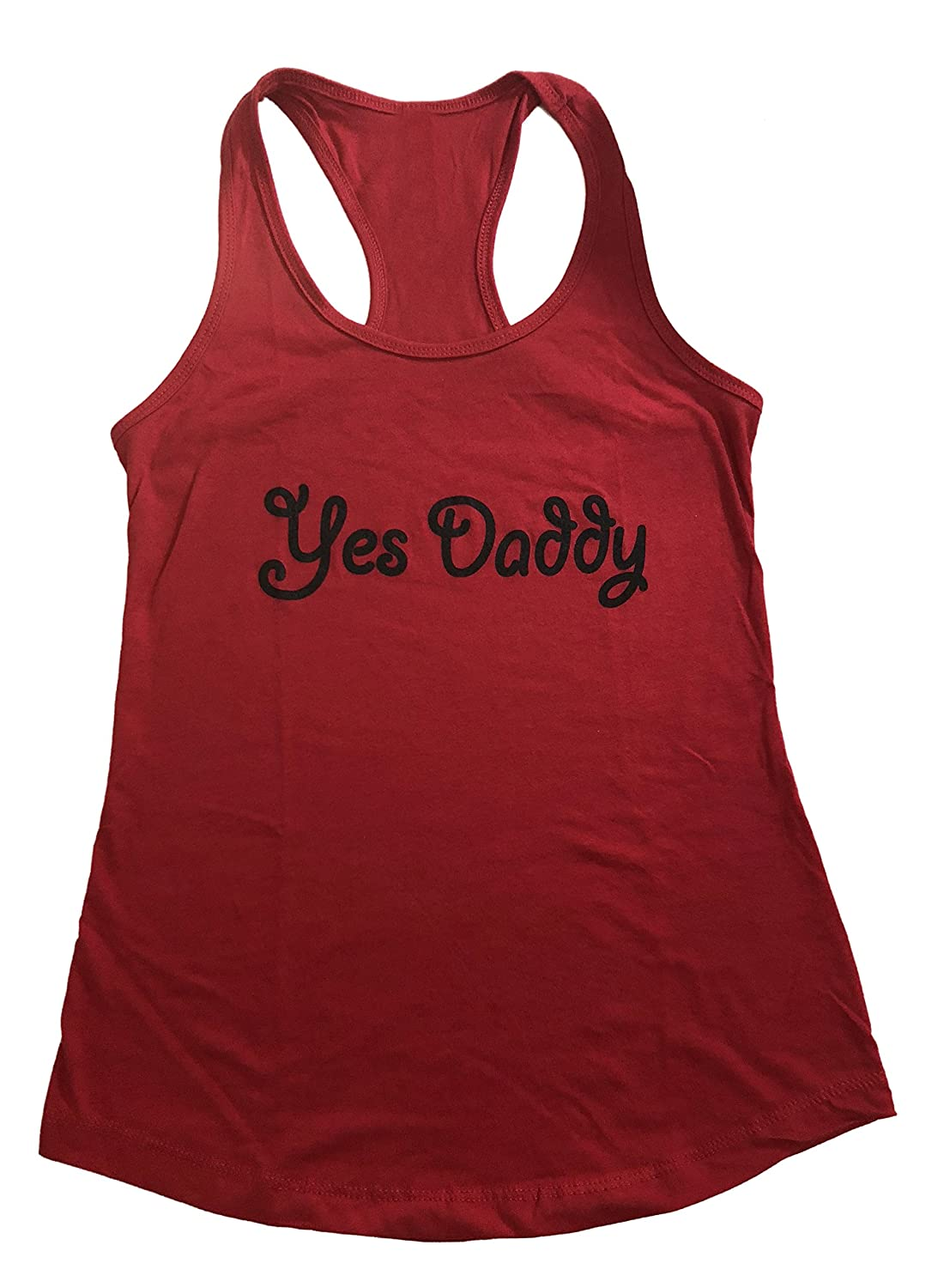 b5de408b7acc3d Yes Daddy Ladies Racerback Tank Top Graphic T Shirt Fetish at Amazon Women s  Clothing store