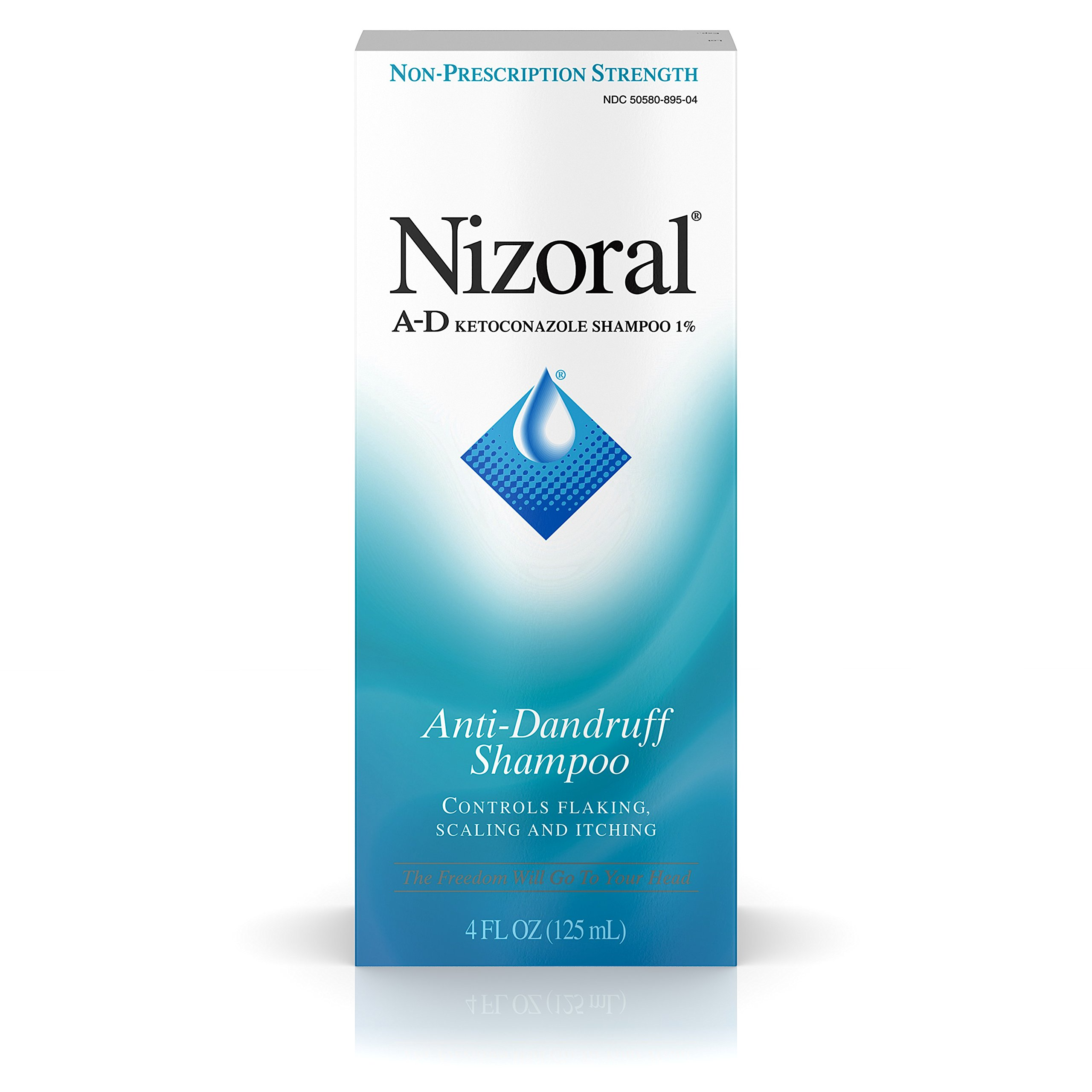Nizoral A-D Anti-Dandruff Shampoo 4 Fl. Oz Itchy Scalp Dandruff Treatment w/ Ketoconazole 1%