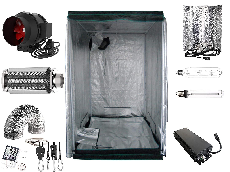 Generic Growbox Komplettset 600 W NDL Eco 120x120x200 cm AKF 595m³/h(600 Watt mit AKF)