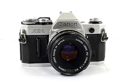 amazon com canon ae 1 35mm slr manual focus camera w fd 50mm lens rh amazon com Manual 35Mm SLR Camera minolta manual focus slr cameras