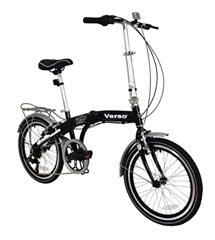 Verso by Kettler Cologne 7-Speed Aluminum Folding Bike, 20-Inch, Black