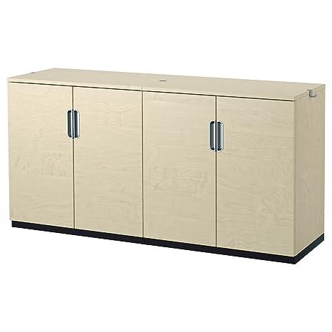 IKEA GALANT - Combinación almacenaje con puertas Lámina de abedul