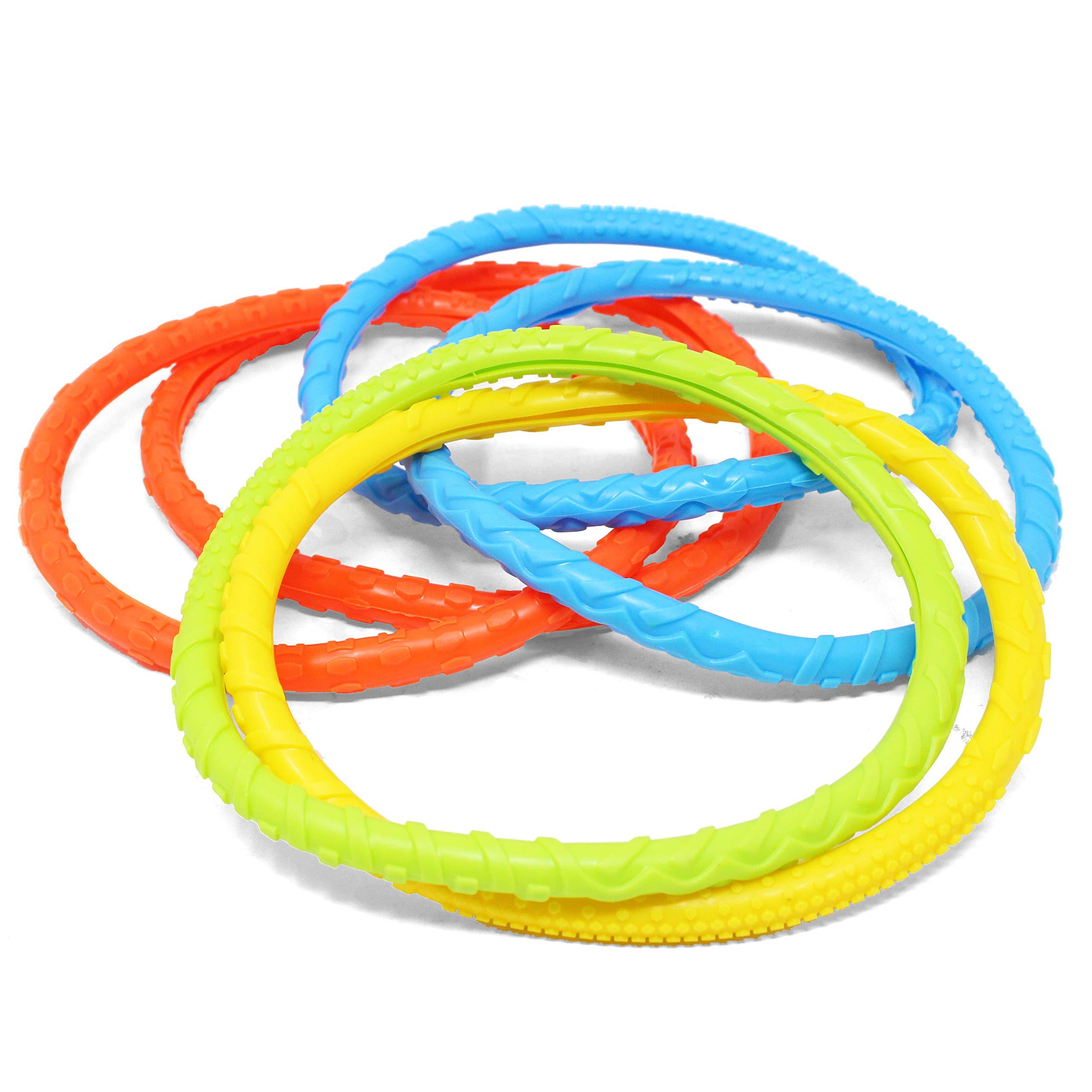 JOYIN 30 Pcs Diving Pool Toys Jumbo Set Includes (5) Diving Sticks, (6) Diving Rings, (5) Pirate Treasures, (4) Toypedo Bandits, (3) Diving Toy Balls, (3) Fish Toys, (4) Stringy Octopus by JOYIN (Image #4)