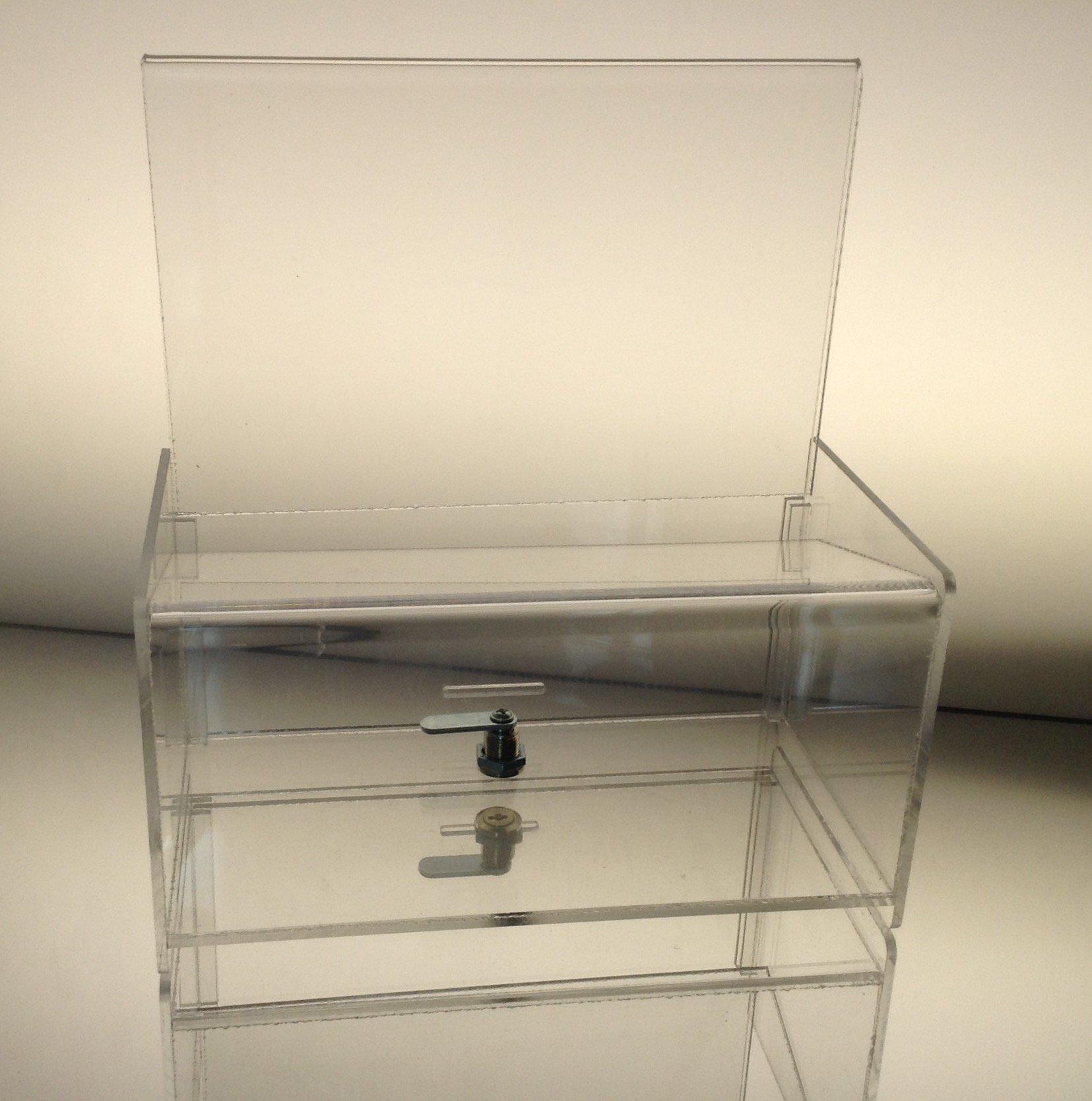 Dazzling Displays Clear Acrylic Easy Drop Donation Box