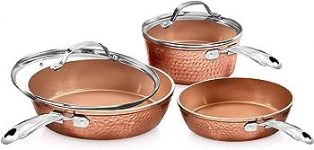 Gotham Steel Premium Hammered Ceramic Cookware Set