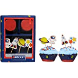 Premier Housewares Rocket Cupcake Cases and Toppers, 48-Pieces