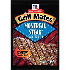 McCormick Grill Mate MONTREAL STEAK Marinade .71oz (15 Packets)