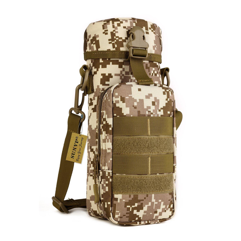 SUNVP Tactical Molle Wasserflasche Beutel Kessel Bag Military Schulter Messenger Bag Pack Größe Tasche Pack Gear zum Wandern Camping Trekking Outdoor Sport