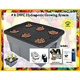 "DWC Hydroponic BUBBLER Kit # 8 20"" x 15"", 6 site by H2OtoGro"