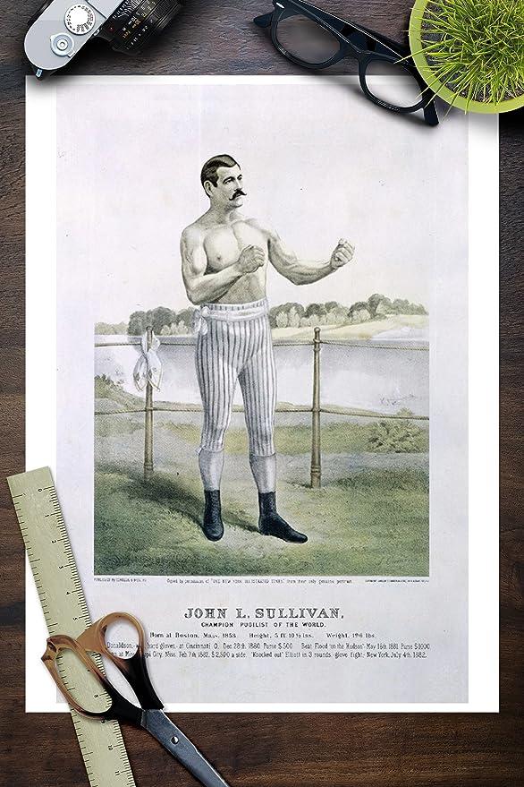 Amazon.com: John L Sullivan (artist: Cameron) USA c. 1883 - Vintage Advertisement (9x12 Fine Art Print, Home Wall Decor Artwork Poster): Posters & Prints