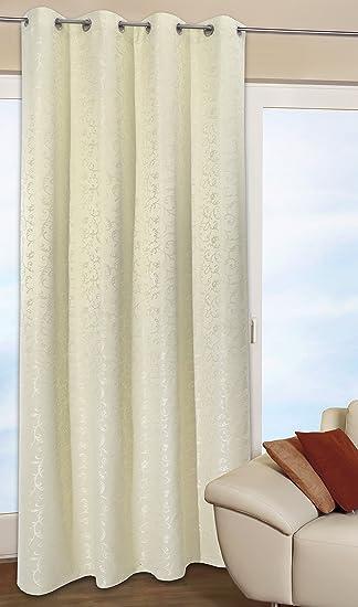 Gardinen Aufhängung vorhang gardine dekoschal elegantes rankenmuster