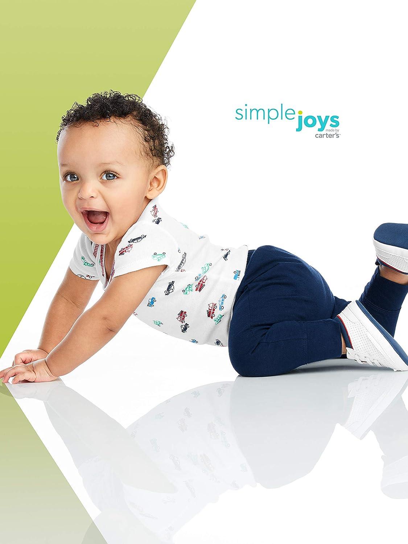 24 Meses paquete de 4 Simple Joys by Carters pantal/ón para beb/é Navy//Stripes//Gray