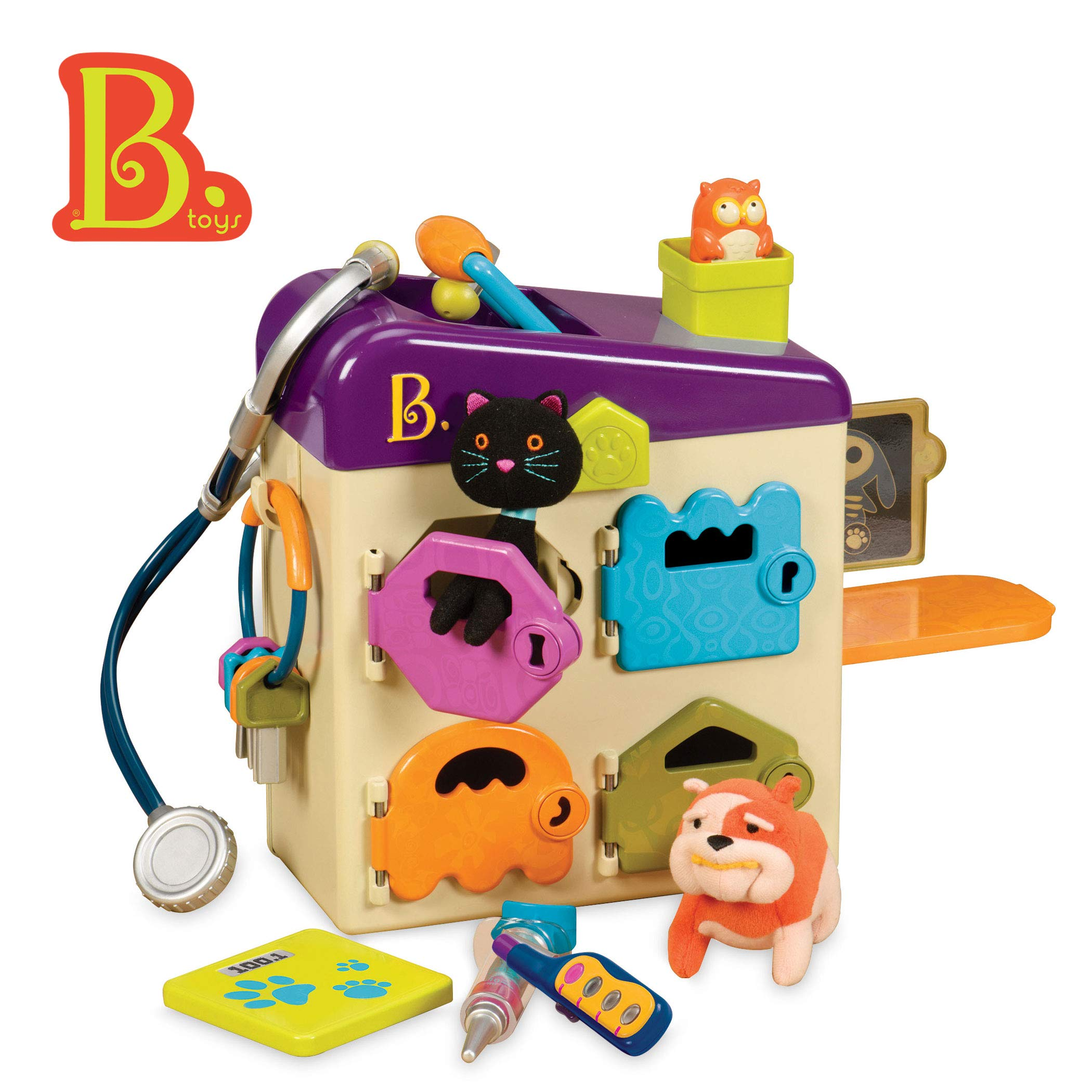 B. toys by Battat - B. Pet Vet Toy - Doctor Kit for Kids Pretend Play (8 pieces) by B. toys by Battat