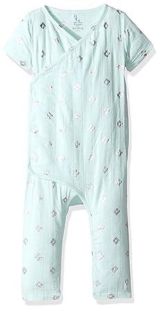 aab747a99e67 Amazon.com  aden + anais Baby Boys  Short Sleeve Kimono One-Piece ...