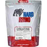 Hard Rhino Creatine Monohydrate Micronized Powder, 1 Kilogram (2.2 Lbs), Unflavored, Lab-Tested, Scoop Included