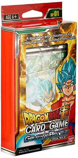 Dragon Ball Z Super Galactic Battle TCG Special Pack English ...