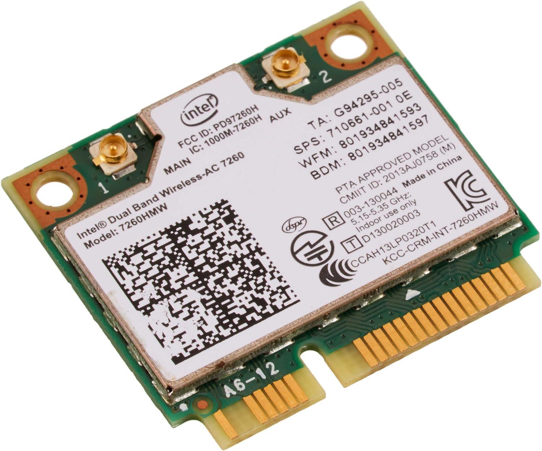 intel Dual Band Wireless-AC 7260 7260NGW NGFF PCIe WLAN WIFI Card Module 802.11 ac/a/b/g/n 867Mbps BlueTooth BT KTTYN for Dell Version
